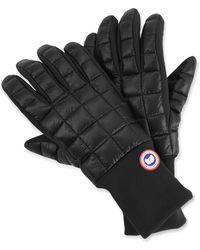 f694307d9 Moncler Flagtrim Gloves in Gray for Men - Lyst