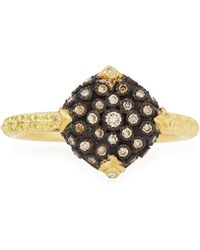 Armenta - Old World Pavé Diamond Cushion Ring - Lyst