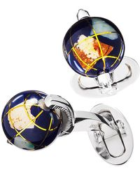 Jan Leslie - Spinning Lapis Inlay Globe Cuff Links - Lyst