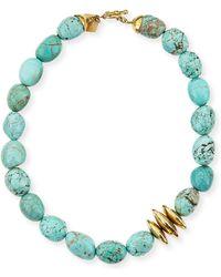 Ashley Pittman - Yai Turquoise Necklace - Lyst