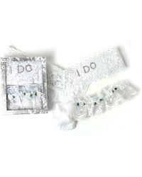Hanky Panky - I Do Bridal Thong/garter Set - Lyst
