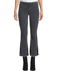 10 Crosby Derek Lam - Gia Mid-rise Cropped Flare-leg Jeans - Lyst