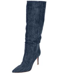 Gianvito Rossi - Slouchy Denim Mid-calf Boots - Lyst