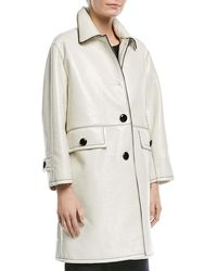 Marc Jacobs - Piped Button-front Coat - Lyst
