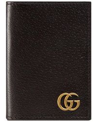 Gucci   Gg Marmont Leather Fold-over Card Case   Lyst