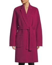 A.L.C. - Paige Belted Wool-blend Coat - Lyst