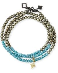 Armenta - Old World 18k Beaded Wrap Bracelet - Lyst
