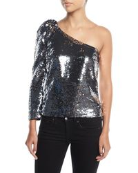 Veronica Beard - Lantana One-shoulder Sequin Top - Lyst