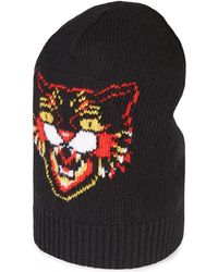 236beb88167 Lyst - Gucci Gg Supreme Angry Cat Trucker Hat in Black for Men