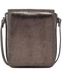 Brunello Cucinelli - Metallic Leather Crossbody Messenger Bag - Lyst