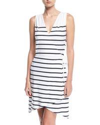 Heidi Klein - Maine Sleeveless Striped Wrap Dress - Lyst