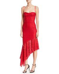 MILLY - Angelina Sleeveless Asymmetric Stretch Lace Dress - Lyst