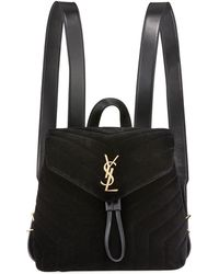 Saint Laurent - Monogram Ysl Loulou Small Y-quilted Suede Backpack - Lyst