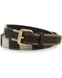 Burberry - Kids' Leather Check-trim Belt - Lyst