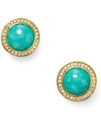 Ippolita - Lollipop 18k Gold Turquoise & Diamond Earrings - Lyst