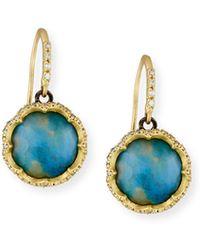 Armenta - Old World Peruvian Opal Earrings With Diamonds - Lyst