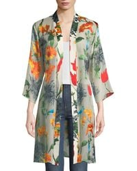 Alice + Olivia - Maylin Belted Floral-print Robe Jacket - Lyst