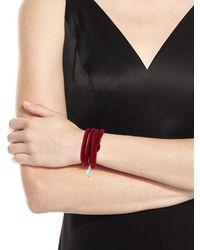 Grazia And Marica Vozza | Woven Silk Bracelet With Pearl Charm | Lyst