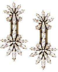 Auden | Devon Crystal Chain Drop Earrings | Lyst