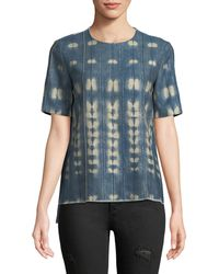 Adam Lippes - Vintage-inspired Chambray Short-sleeve T-shirt - Lyst
