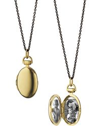 "Monica Rich Kosann - 18k Gold 17"" Anna Locket - Lyst"
