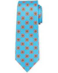 Kiton - Fancy Medallion-print Silk Tie - Lyst