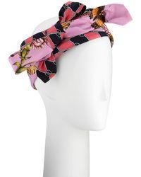 Gucci   Botanic Chane Silk Knotted Headband   Lyst
