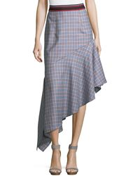 MILLY - Charlotte Check Suiting Skirt - Lyst