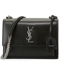 29e3102b884a Lyst - Saint Laurent Vicky Monogram Ysl Large Quilted Leather Chain ...