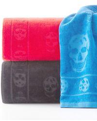 Alexander McQueen - Tonal Skull-print Beach Towel - Lyst
