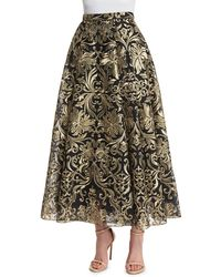 Notte by Marchesa - Embroidered Voluminous Midi Skirt - Lyst