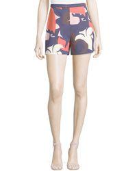 Delpozo - Bold Floral-print Shorts - Lyst