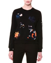 MSGM - Long-sleeve Cat Sweatshirt - Lyst