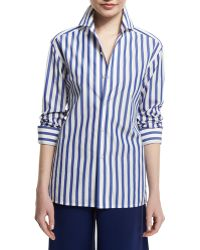 Pink Pony - French Capri Striped Dress Shirt - Lyst