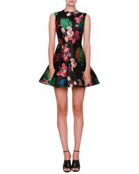 Valentino   Tropical Dream Brocade Sleeveless Dress   Lyst