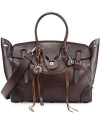 Pink Pony - Soft Ricky 40 Satchel Bag With Whipstitching - Lyst