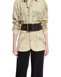 Ralph Lauren Collection - Western Studded Leather Belt - Lyst