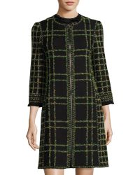 Andrew Gn - Floral Tweed Coat - Lyst