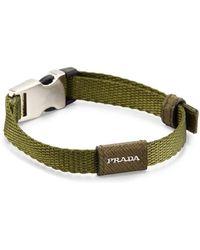 Prada Men S Nylon Seatbelt Buckle Bracelet Lyst