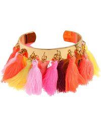 Mignonne Gavigan - Lily Tassel-trim Cuff Bracelet - Lyst