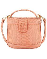 Ximena Kavalekas Jenny Python Top-handle Bag - Pink