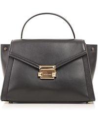 079484371c04 Michael Michael Kors Leather Tote Bag in Black - Lyst