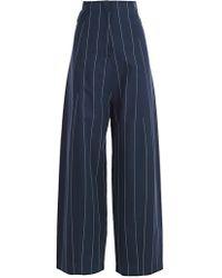Erika Cavallini Semi Couture - Pantalone Nico - Largo Gessato - Lyst