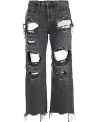 T By Alexander Wang - Jeans Super Strappatp - Lyst