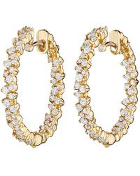 "Paul Morelli - Small 18k Yellow Gold & Diamond ""confetti"" Hoop Earrings - Lyst"