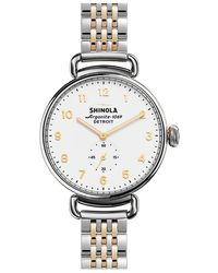 Shinola - Canfield 38mm Steel & Rose Gold Pvd - Lyst