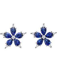 "Paul Morelli - Small Sapphire & Diamond ""stellanise"" Earrings - Lyst"