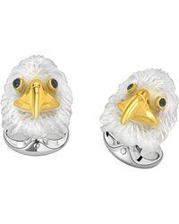 Deakin & Francis - Silver & Carved Rock Crystal Bald Eagle Cufflinks - Lyst