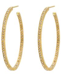 "Yossi Harari - Large Champange Diamond ""lilah"" Hoop Earrings - Lyst"