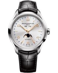 Baume & Mercier | Clifton Moon Phase 43mm Steel | Lyst